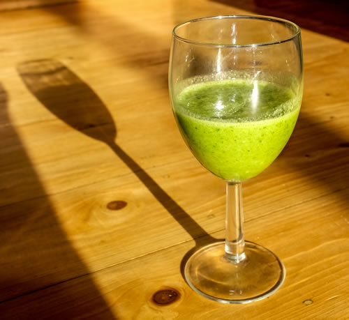 Winter Green Ginger Smoothie