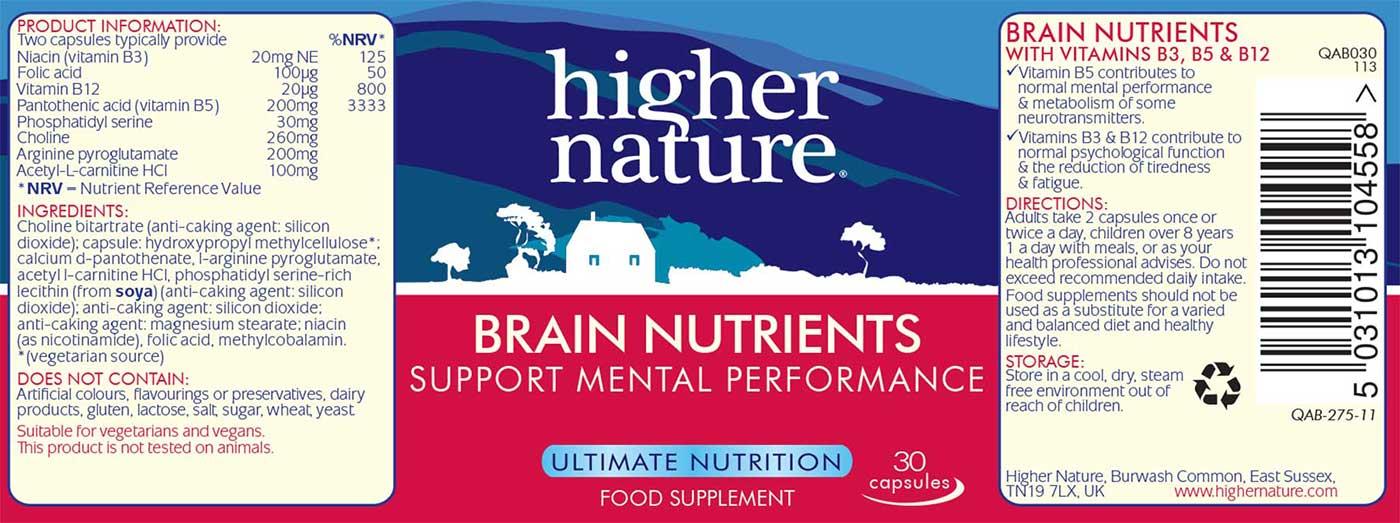 Brain Nutrients Details