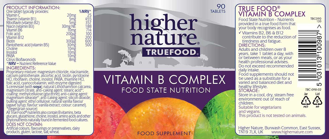 True Food B-Complex Details