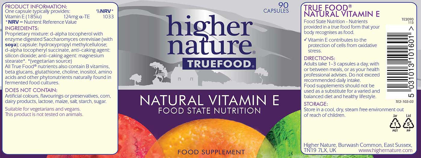 True Food Natural Vitamin E Details
