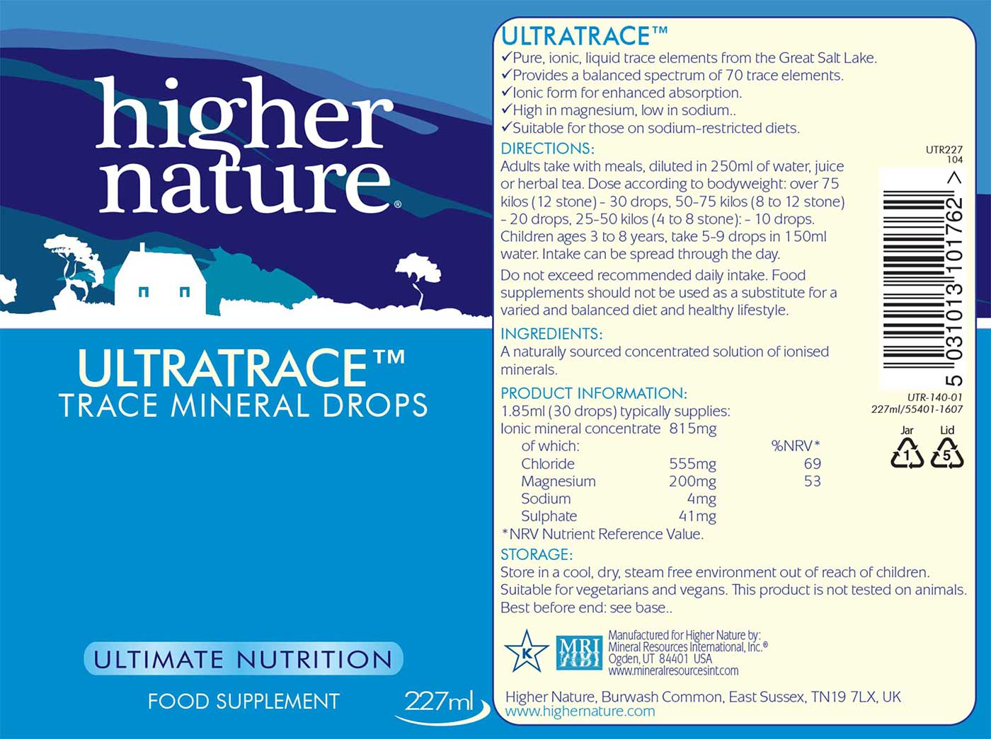 Ultratrace Trace Minerals Details